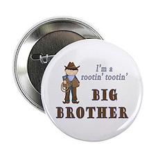 "Cowboy Rootin Tootin Big Brother 2.25"" Button"