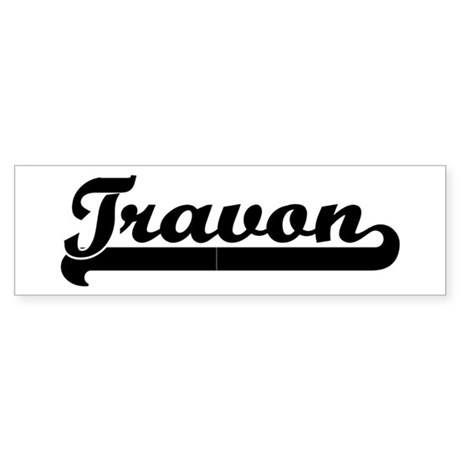 Black jersey: Travon Bumper Sticker