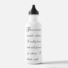 Few Whom I Love Water Bottle
