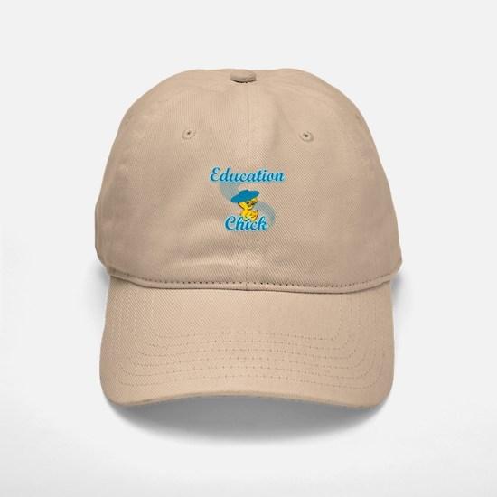 Education Chick #3 Baseball Baseball Cap