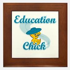 Education Chick #3 Framed Tile