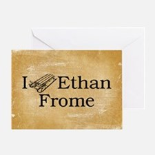 I (Sled) Ethan Frome Greeting Card