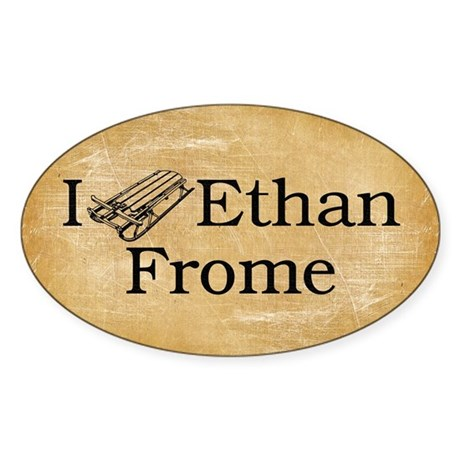 I (Sled) Ethan Frome Sticker (Oval)