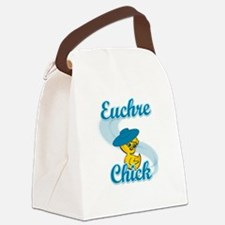 Euchre Chick #3 Canvas Lunch Bag