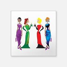 "Ladies' Night Square Sticker 3"" x 3"""