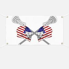 Two Lacrosse Helmets Banner