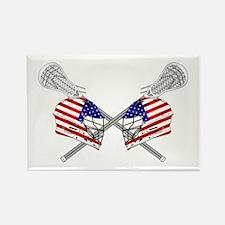 Two Lacrosse Helmets Rectangle Magnet