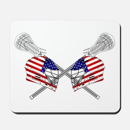 Two Lacrosse Helmets Mousepad