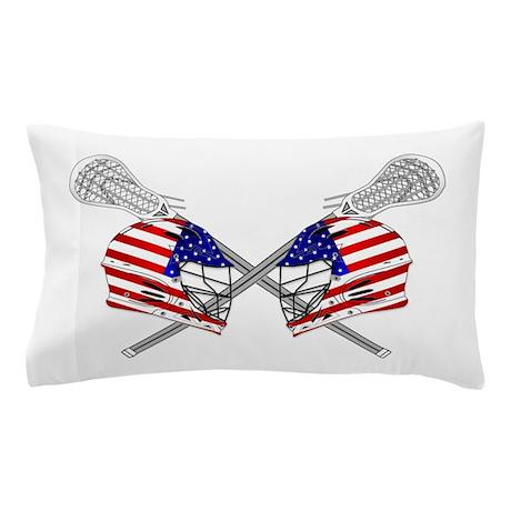 Two Lacrosse Helmets Pillow Case