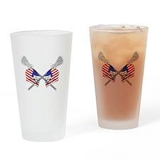 Two Lacrosse Helmets Drinking Glass