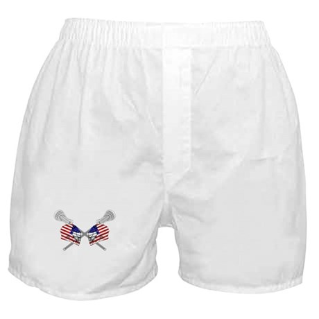 Two Lacrosse Helmets Boxer Shorts