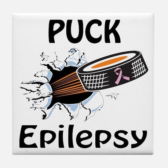 Puck Epilepsy Tile Coaster