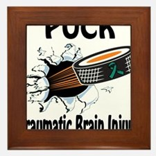 Puck Traumatic Brain Injury Framed Tile