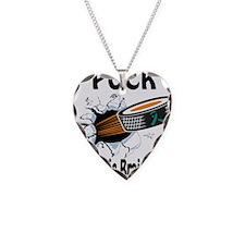 Puck Traumatic Brain Injury Necklace Heart Charm