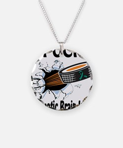 Puck Traumatic Brain Injury Necklace Circle Charm
