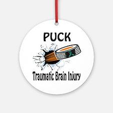 Puck Traumatic Brain Injury Ornament (Round)