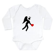 Angel Over My Shoulder Long Sleeve Infant Bodysuit