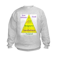 New Orleans Food Pyramid Sweatshirt