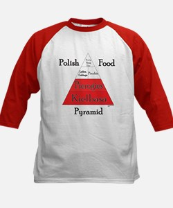 Polish Food Pyramid Kids Baseball Jersey