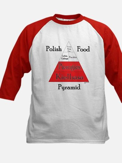Polish Food Pyramid Kids Baseball Jersey