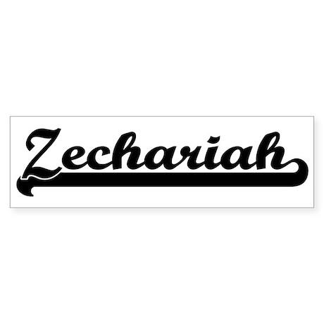 Black jersey: Zechariah Bumper Sticker