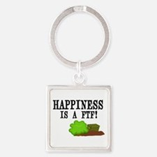 Happiness is A FTF Square Keychain