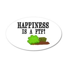 Happiness is A FTF 35x21 Oval Wall Decal