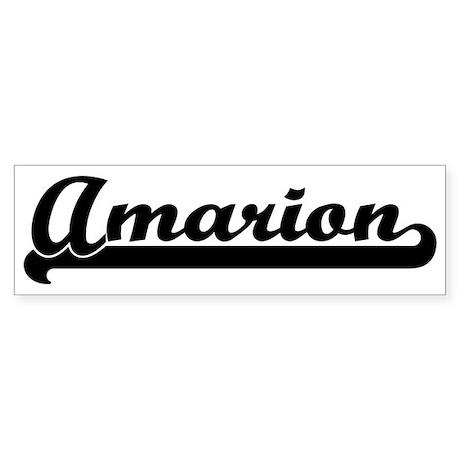 Black jersey: Amarion Bumper Sticker