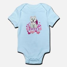 Westie Valentine Candy Infant Bodysuit