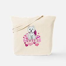 Westie Valentine Candy Tote Bag