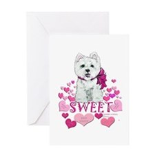 Westie Valentine Candy Greeting Card