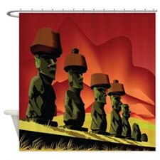 Easter Island Monuments Shower Curtain