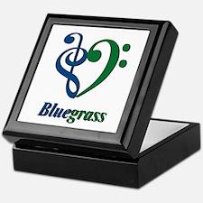 I Love Bluegrass (Blue Green) Keepsake Box