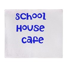 School House Cafe T-Shirt Throw Blanket