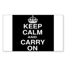 Keep Calm and Carry on Black and White Decal