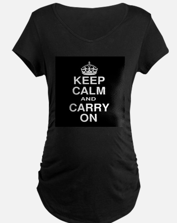 Keep Calm and Carry on Black and White T-Shirt