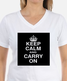Keep Calm and Carry on Black and White Shirt