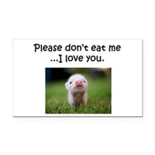 Dont Eat Me Rectangle Car Magnet