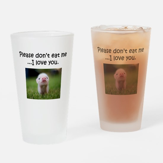 Dont Eat Me Drinking Glass