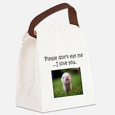 Dont Eat Me Canvas Lunch Bag