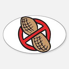 No Peanuts! Sticker (Oval)