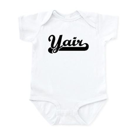 Black jersey: Yair Infant Bodysuit
