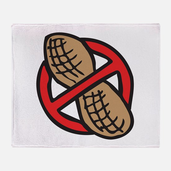 No Peanuts! Throw Blanket
