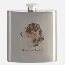 Australian Shepherd Flask