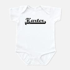 Black jersey: Karter Infant Bodysuit