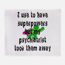 I use to have superpowers Throw Blanket