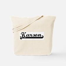 Black jersey: Karson Tote Bag