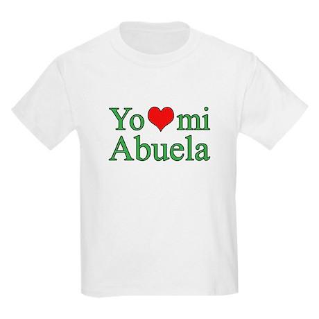I love my grandma (Spanish) Kids Light T-Shirt