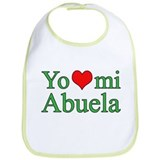I love my grandma (spanish) Cotton Bibs