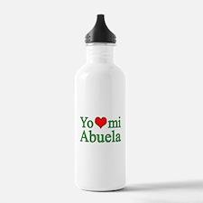 I love my grandma (Spanish) Water Bottle